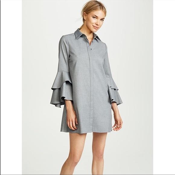 ALICE AND OLIVIA JEM TRUMPET Dress Shirt Dress